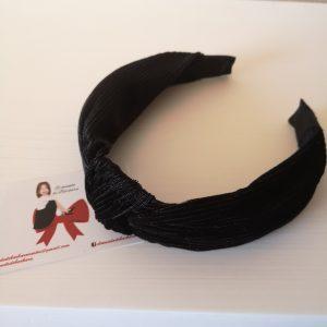 Diadema Terciopelo Negra con pliegles