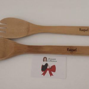 Cuchara y tenedor madera