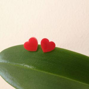 Pendientes corazón Rojo