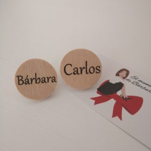 Sujeta Pañuelo madera Redondo personalizado