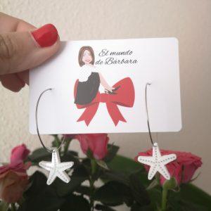 Pendiente Aro Estrella de Mar mini metacrilato®