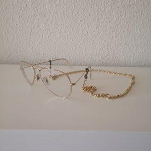 Cordón de gafa acero dorado