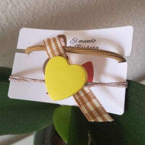 Coletero corazón amarillo