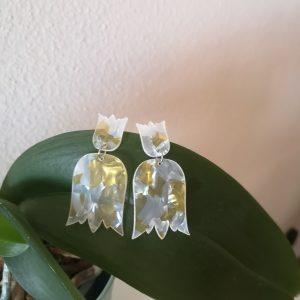 Pendientes Tulipan combinado
