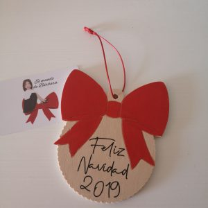 Bolita Maxi lazo Feliz Navidad 2019