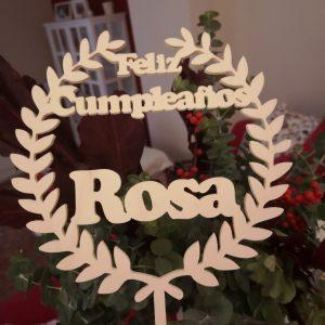 Topper Feliz cumpleaños laurel