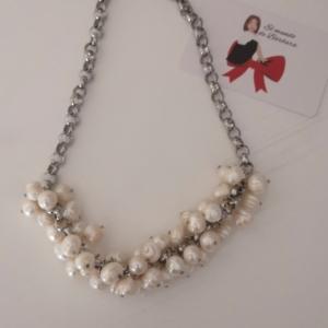 Collar de Perlas y Acero