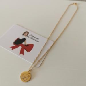 Cadena con medalla Acero dorado