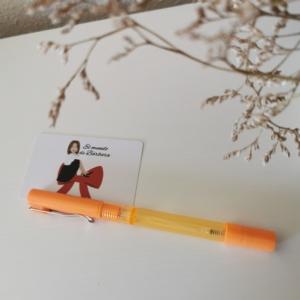 Rotulador Naranja con gel desinfectante