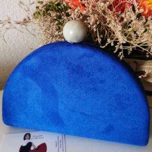 Bolso media luna azul