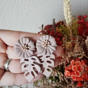 Pendientes flor nude