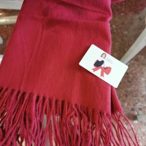 Bufanda lisa Burdeos personalizada