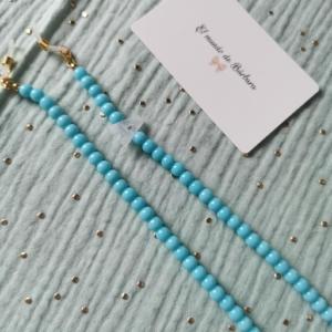 Cuelga Gafas-Mascarilla Azul